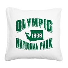 Olympic Old Style Green.png Square Canvas Pillow
