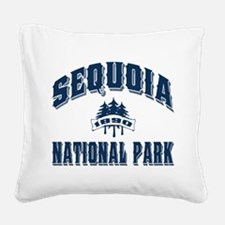 Sequoia Old Style Blue.png Square Canvas Pillow