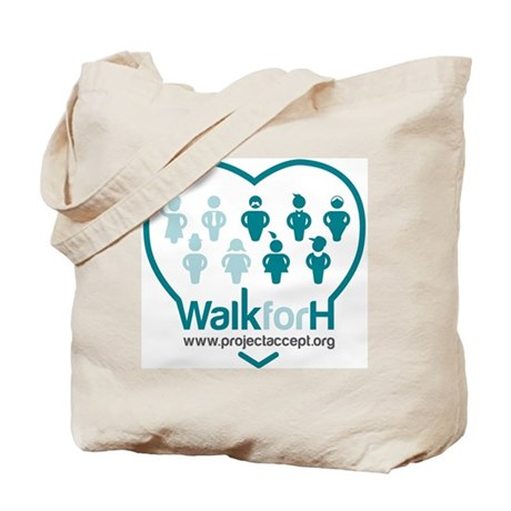 Walk for H Logo Tote Bag