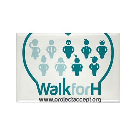 Walk for H Logo Rectangle Magnet