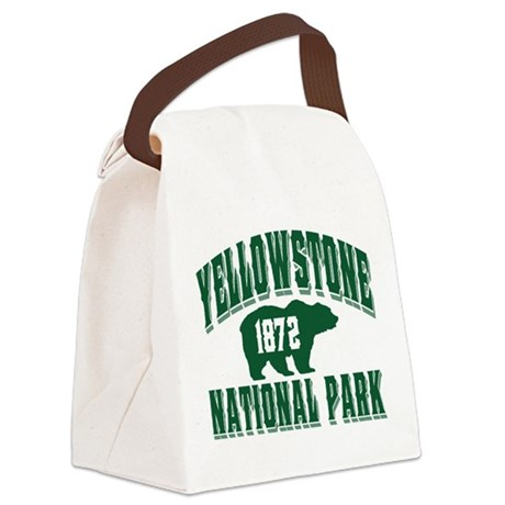 Yellowstone Old Style Green.png Canvas Lunch Bag