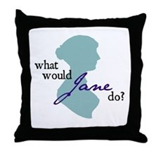 Funny Jane austen Throw Pillow