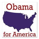 Obama for America Square Car Magnet