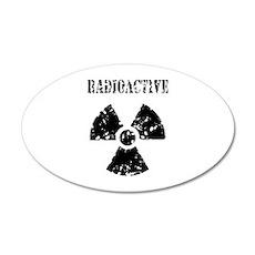 Radioactive 22x14 Oval Wall Peel