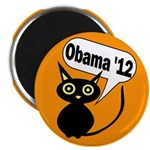 Halloween Cat for Obama '12 Fridge Magnet