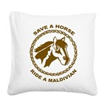 Ride A Maldivian Square Canvas Pillow