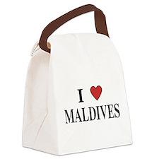 I Love Maldives Canvas Lunch Bag