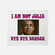 NOT JULIA Throw Blanket