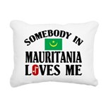Somebody In Mauritania Rectangular Canvas Pillow