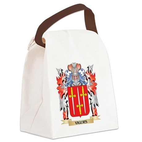 Vigurs Coat of Arms - Family Cres Canvas Lunch Bag