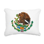 Mexico Coat Of Arms Rectangular Canvas Pillow