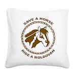 Ride A Moldovan Square Canvas Pillow