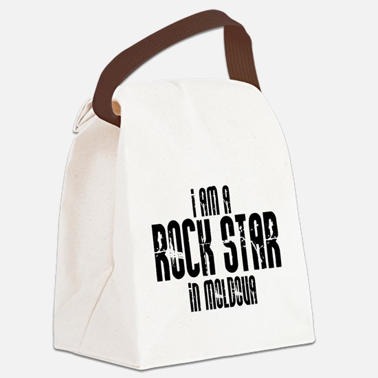 Rock Star In Moldova Canvas Lunch Bag
