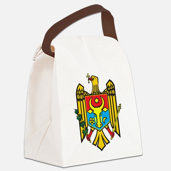 Moldova Coat Of Arms Canvas Lunch Bag