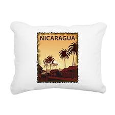 Vintage Nicaragua Rectangular Canvas Pillow