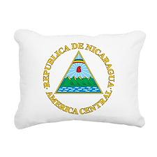 Nicaragua Coat Of Arms Rectangular Canvas Pillow