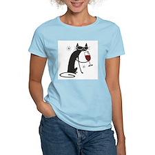 wine-cat-no text.tif T-Shirt