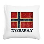 Vintage Norway Square Canvas Pillow