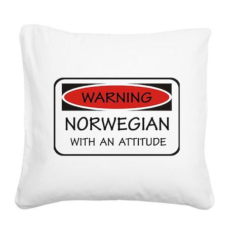 Attitude Norwegian Square Canvas Pillow