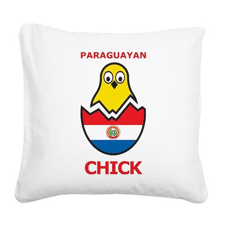 Paraguayan Chick Square Canvas Pillow