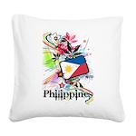 Philippines Square Canvas Pillow