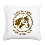 Ride A Filipino Square Canvas Pillow