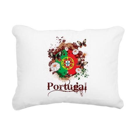 Butterfly Portugal Rectangular Canvas Pillow
