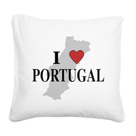 I Love Portugal Square Canvas Pillow