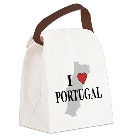 I Love Portugal Canvas Lunch Bag