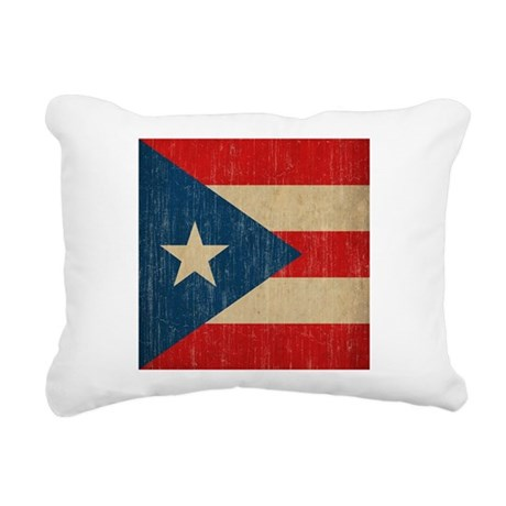 Vintage Puerto Rico Rectangular Canvas Pillow