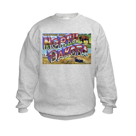 North Dakota Greetings Kids Sweatshirt