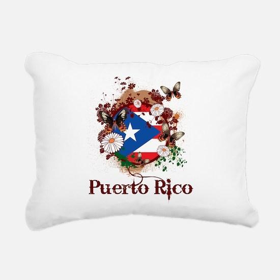 Butterfly Puerto Rico Rectangular Canvas Pillow