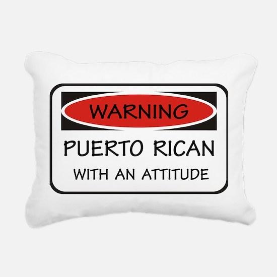 Attitude Puerto Rican Rectangular Canvas Pillow