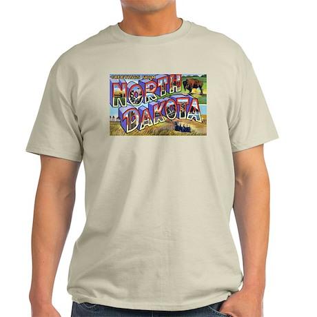 North Dakota Greetings Ash Grey T-Shirt