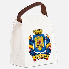 Stylish Romania Crest Canvas Lunch Bag