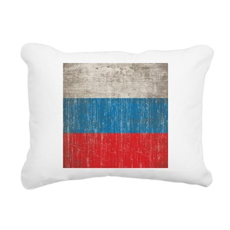 Vintage Russia Flag Rectangular Canvas Pillow