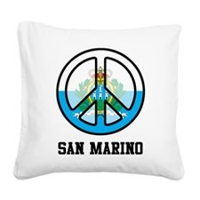 Peace In San Marino Square Canvas Pillow