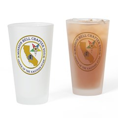 Custom Mission Bell OES Drinking Glass
