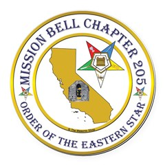 Custom Mission Bell OES Round Car Magnet