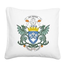 Dundee Coat Of Arms Square Canvas Pillow