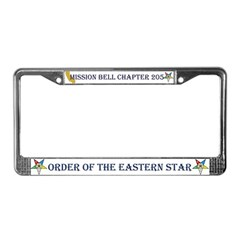 Custom Mission Bell OES License Plate Frame
