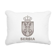 Vintage Serbia Rectangular Canvas Pillow