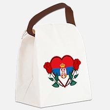 Heart Serbia Canvas Lunch Bag