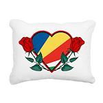 Heart Seychelles Rectangular Canvas Pillow