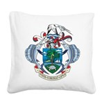 Seychelles Coat Of Arms Square Canvas Pillow
