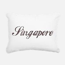 Vintage Singapore Rectangular Canvas Pillow