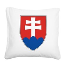Slovakia Coat Of Arms Square Canvas Pillow