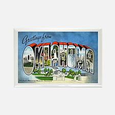 Oklahoma Greetings Rectangle Magnet