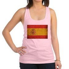Vintage Spain Flag Racerback Tank Top