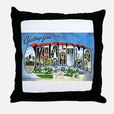 Oklahoma Greetings Throw Pillow